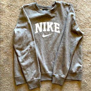 Nike crewneck sweatshirt, gray, size large